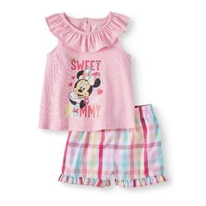 Disney Minnie Mouse Baby Girl Shorts Set Newborn